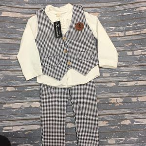 Other - 3 piece soft stretchy faux suit